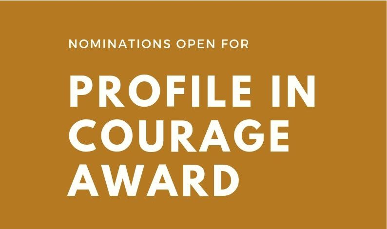 Nominations open for Profile in Courage Awards