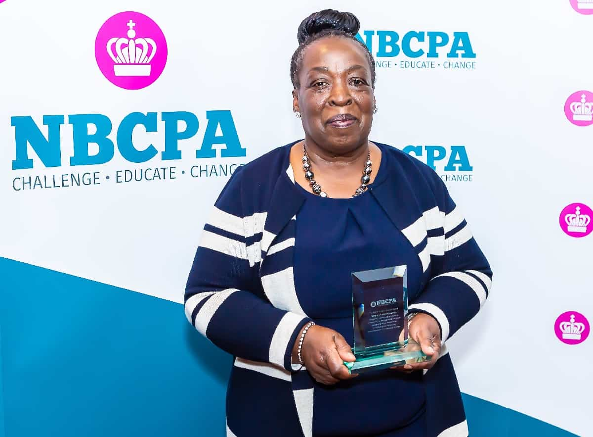 Lorna Simpson, mother of Jamie Simpson, receives NBCPA's Profile in Courage award