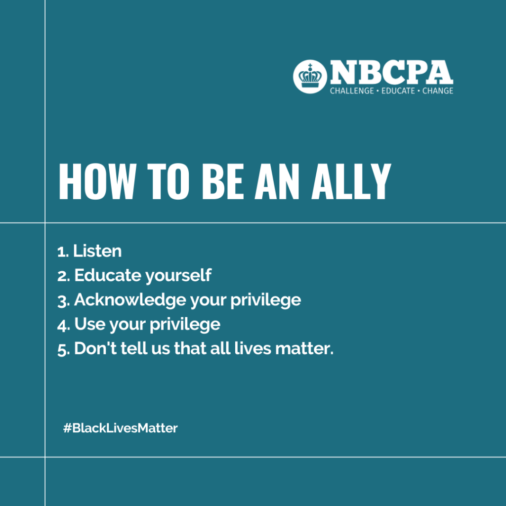 NBCPA how to be an ally