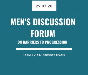 Event: Men's discussion forum on barriers to progression
